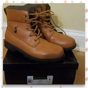 Polo Ralph Lauren Tan Greylock Boots Junior